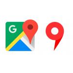 La puntuación de 5 puntos en las tarjetas de yandex y Google